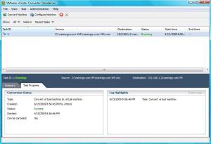 VMware Converter Running